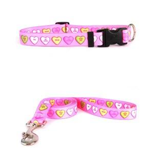 Yellow Dog Design Sweethearts Pet Standard Collar and Lead Set