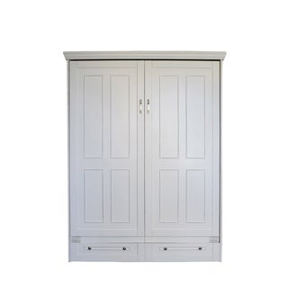 Queen Devonshire Murphy Bed in Antique White