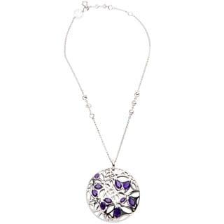 Di Modolo Rhodium-plated Sterling Silver Purple Quartz Necklace