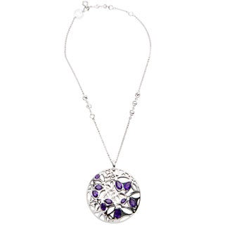 Di Modolo Rhodium-plated Sterling Silver Purple Quartz Necklace