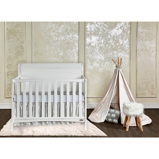 Dream On Me Bailey 5-in-1 White Convertible Crib