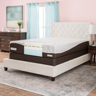 ComforPedic from BeautyRest 12-inch California King-size Gel Memory Foam Mattress Set