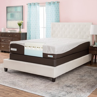 ComforPedic from BeautyRest 12-inch California King-size Gel Memory Foam Mattress Set