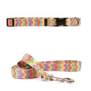 Yellow Dog Design Chevron Pet Collar and Lead Set