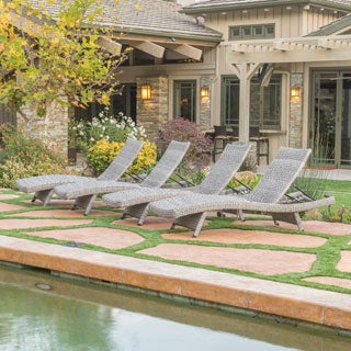Crete Outdoor Chaise Lounge (Set of 4) by Christopher Knight Home