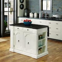 Havenside Home Driftwood Wood Top Kitchen Island