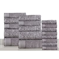 Panache Home Jacquard Collection 100-percent Luxurious Cotton 18-piece Towel Set