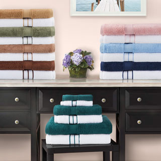 Superior Luxurious 900 GSM Combed Cotton 6-piece Towel Combo Set