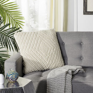 Safavieh 20-inch Diamond Loop Natural Decorative Pillow