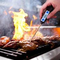 Black Stainless Steel Digital Kitchen Thermometer
