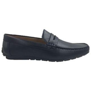 Andrew Fezza Men's Blue Slip-on Loafer Driving Shoes