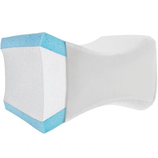 PharMeDoc Knee Pillow Orthopedic Cushion Hip and Joint Pain Relief Washable Case Contoured Bed Pillow for Side Sleepers