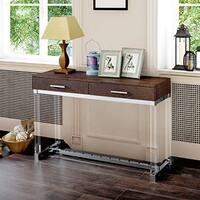 Furniture of America Repta Contemporary Crocodile Textured Storage Sofa Table