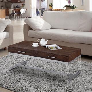 Furniture of America Repta Contemporary Crocodile Textured Storage Coffee Table