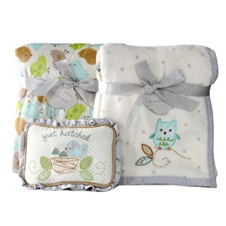Nurture Owl and Nesting Birdies Blanket Gift Set