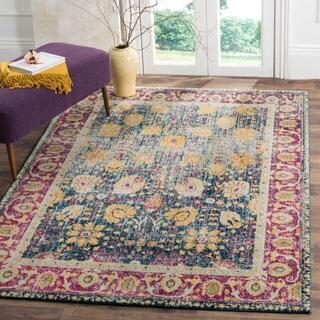 Safavieh Granada Vintage Bohemian Blue/ Fuchsia Distressed Rug (3' x 5')