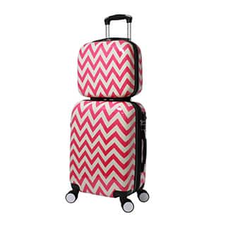 World Traveler Chevron 2-piece Lightweight Hardside Carry-on Spinner Luggage Set|https://ak1.ostkcdn.com/images/products/P20490981w.jpg?impolicy=medium