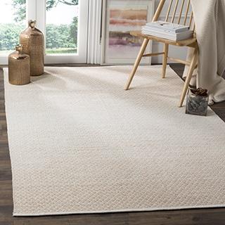 Safavieh Montauk Handmade Flatweave Beige/ Ivory Cotton Rug (8' x 10')