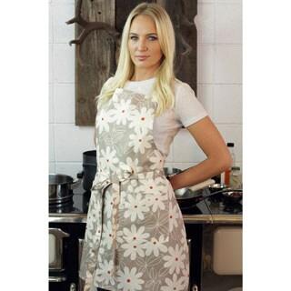 Daisy Modern Print Cotton Butcher's Apron