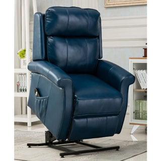 Lawrence Navy Blue Traditional Lift Chair by Greyson Living