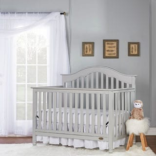Dream On Me Charlotte Grey Wood 5-In-1 Convertible Crib