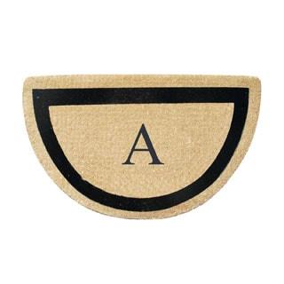 A1HC First Impression Engineered Coir Anti Shred Bleach Half Round Fade Resistant Doormat