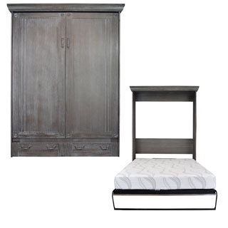 Empire Charcoal Wash Queen-size Murphy Bed