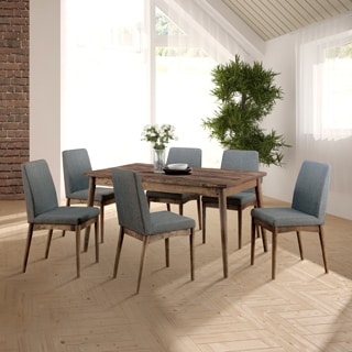 Furniture Of America Reynorth Mid Century Modern 7 Piece Natural Tone Dining  Set