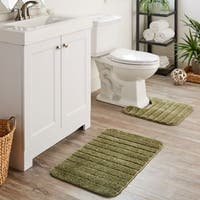 Mohawk Home Veranda Bath Rug Set (Set Contains: 1'8x2'6, 1'8x1'8 Contour and Universal Toliet Lid Cover)