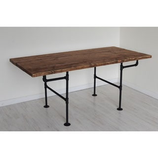 American Farmhouse Wooden Iron Pipe Table