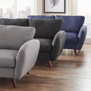 Katryn Linen Fabric Loveseat by MID-CENTURY LIVING