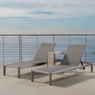 Cape Coral Mesh Chaise Lounge with End Table by Christopher Knight Home (Set of 2)|https://ak1.ostkcdn.com/images/products/P20633695a.jpg?impolicy=medium
