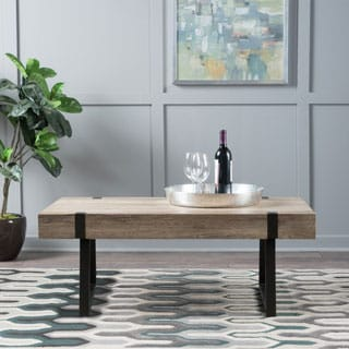 Abitha Faux Wood Coffee Table by Christopher Knight Home