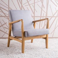 Perseus Mid-Century Fabric Club Chair by Christopher Knight Home
