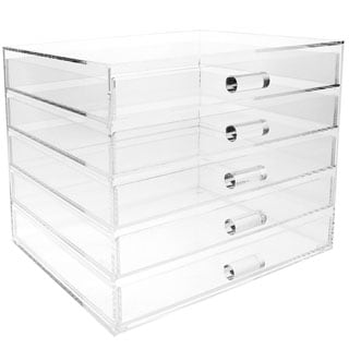 Ikee Design Acrylic 5 Drawer Cosmetic and Jewelry Organizer