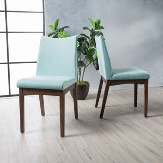 Dimitri Mid Century Fabric Dining Chair (Set Of 2) By Christopher Knight  Home