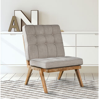 Kinison Grey Tufted Chair by Kosas Home