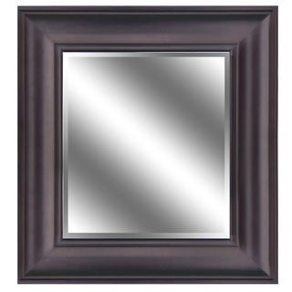 REFLECTION 23 x 27 x 1-inch Bevel Mirror with 5-inch Oil Rubbed Bronze Color Frame
