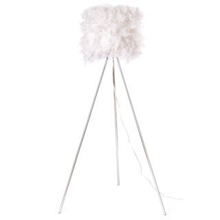 Euro Style Collection Verona Feathered Floor Lamp (61 in.)