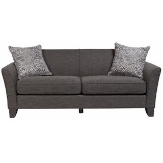 porter medusa charcoal grey mid century modern sofa with 2 woven snakeskin accent pillows - White Living Room Furniture Sets