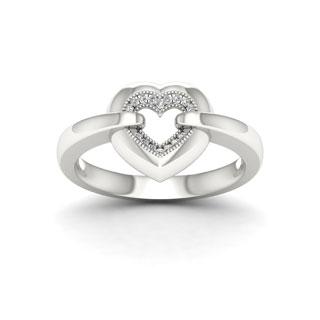 Sterling Silver 1/20ct TDW Diamond Fashion Ring