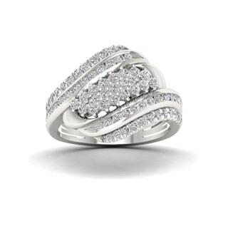 Sterling Silver 1ct TDW Diamond Fashion Ring