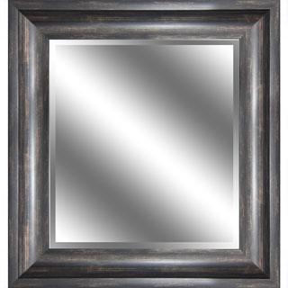 Y-Decor 23 x 27 x 1-inch Bevel Mirror with 3.75-inch Wood Grain Frame - Bronze/Grey/Brown - 23 x 27