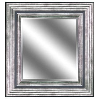 REFLECTION 23 x 27 x 1-inch Bevel Mirror with 5-inch Odessa Silver Color Frame