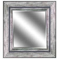 REFLECTION 23 x 27 x 1-inch Bevel Mirror with 5-inch Odessa Silver Color Frame - 23 x 27 x 1