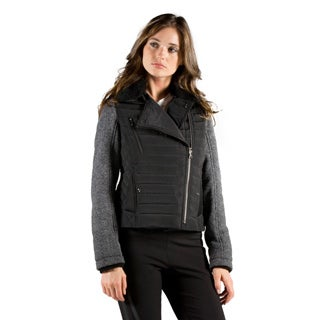 Orobos Women's Mixed Media Down Biker Jacket
