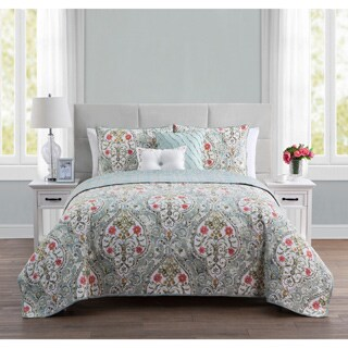 VCNY Home Evangeline Reversible 5-piece Quilt Set