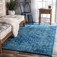 nuLOOM Traditional Trellis Blue Rug - 9' x 12'