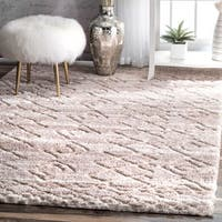 Strick & Bolton Anita Diamond Shag Area Rug (9'2 x 12')