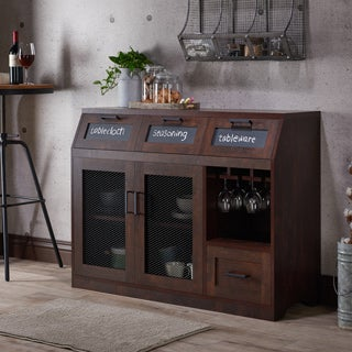 Furniture of America Wenoga Industrial Multi-Storage Buffet/Server